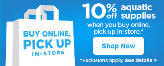 10% off aquatic supplies when you buy online and pick up in store